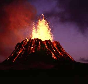 Efecto de Erupción Para un Volcán Casero