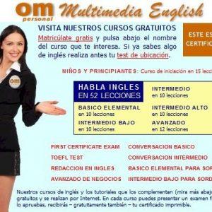 Cursos de ingles gratis online con Om Personal