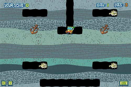 sea monster smoosh - juegos de bob esponja