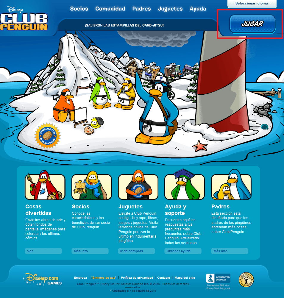 club penguin como registrarse