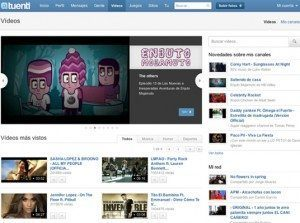 Noticias tuenti: ahora tuenti posee portal de video.